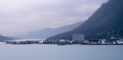 cidade e paisagem do norte de juneau alaska eua foto