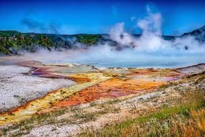 grande primavera prismática no parque nacional de yellowstone foto