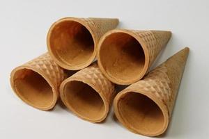 saboroso caldo de casquinha de sorvete foto
