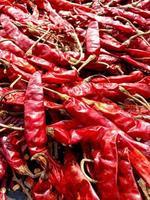 caldo de pimenta vermelha quente e picante foto