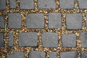 o caminho do bloco de pedra no parque, vista de cima foto