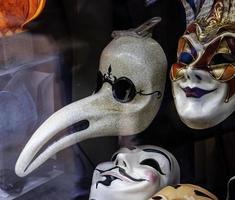 máscaras venezianas feitas à mão foto