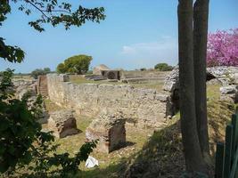 escavações arqueológicas de paestum nápoles foto