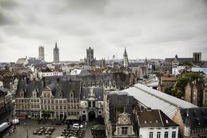 vista panorâmica da cidade de ghent foto
