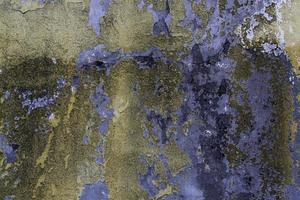 parede descascada e cores abandonadas foto