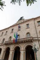 palácio da prefeitura da piazza italia no centro de perugia, itália, 2021 foto