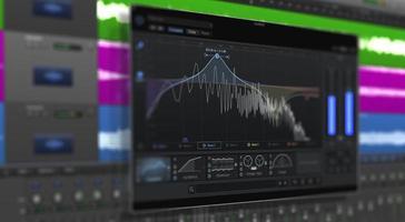 imagem de multitrack sound audio wave no monitor foto