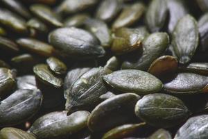 close-up de sementes de abóbora foto