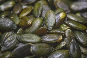 sementes de abóbora em detalhes foto