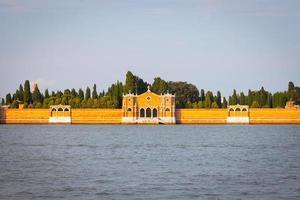 cemitério de veneza de san michele à beira-mar foto