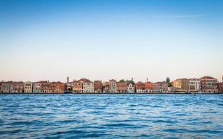 beira-mar de Veneza de zattere foto