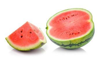 melancia isolada no fundo branco foto