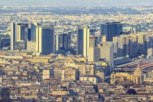 skyline da cidade de nápoles finanças edifícios foto
