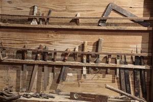 ferramentas de trabalho vintage foto