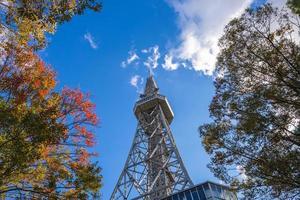 foto de baixo ângulo da torre de nagoya, marco de nagoya no japão