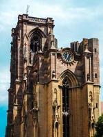 catedral na cidade medieval de rouffach na alsácia, frança foto