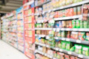 borrão abstrato no supermercado para o fundo foto