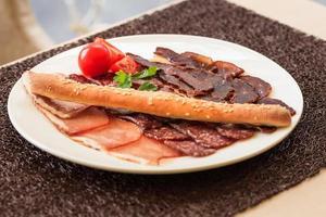 comida deliciosa de carne foto
