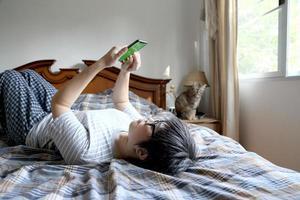 relaxe mulher asiática foto