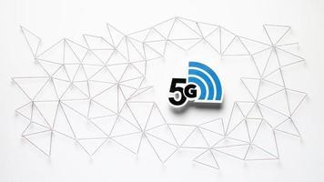 vista de cima comunicação com a Internet 5g. conceito de foto bonita de alta qualidade