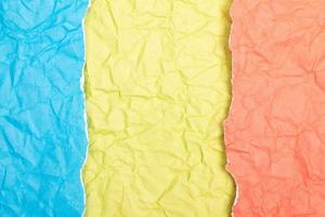 textura ou fundo de papel amassado detalhado foto
