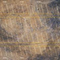 vista aérea superior do estacionamento vazio foto