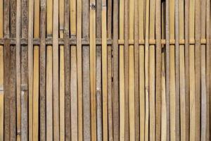 detalhe bambu de um fundo de cerca foto
