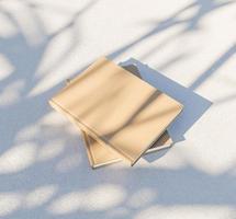 maquete de livros com sombras foto