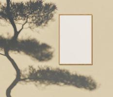 maquete de quadro com sombra foto