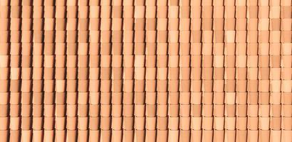 padrão de telhados de telha foto
