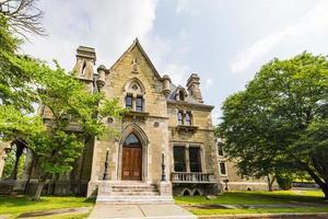 vista externa da histórica mansão llenroc em ithaca, nova york foto