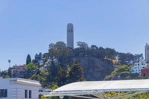 a torre coit em são francisco, califórnia, eua foto