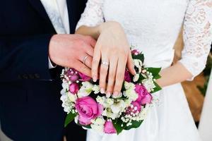conjunto de casamento romântico foto