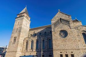vista externa da igreja iglesia gotica em são francisco, califórnia, eua foto