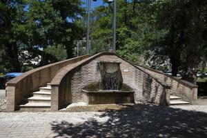 fonte interna da província de Scheggino de Perugia foto