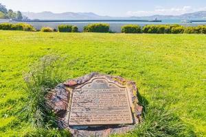 placa memorial no jardim marítimo, são francisco, califórnia foto
