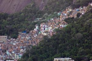favela santa marta no rio de janeiro. foto