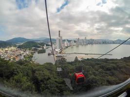 teleférico do parque unipraias no spa camboriú em santa catarina, brasil foto