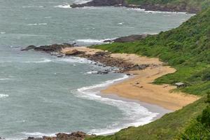 mirante da praia vermelha em penha, santa catarina, brasil foto