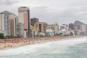 praia de Leblon no rio de janeiro, brasil foto