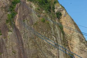 vista do topo do morro da urca no rio de janeiro, brasil foto