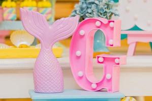 decoração de aniversário com tema unicórnio foto