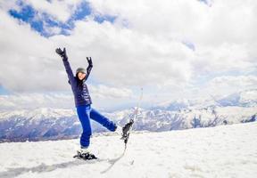 férias esquiando em gudauri, georgia foto