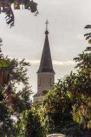 torre da igreja luterana de pomerode em blumenau, santa catarina, brasil foto