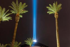Las Vegas nevada skyline da cidade à noite foto