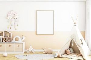 maquete de quadro infantil foto
