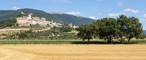 vila de Assis na região de umbria, itália. foto