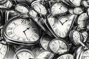 fundo do efeito droste com espiral do relógio infinito. foto