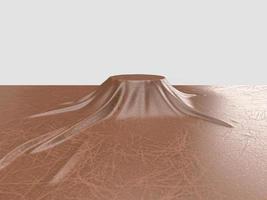Imagem renderizada em 3D do estande de produtos de capa de couro foto