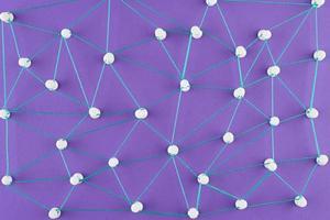 o conceito de rede de alto ângulo com fio foto